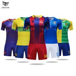 ملابس لكرة القدم مع نموذج جيرسي للرياضات الفارغة المخصص قميص كرة قدم رخيص يضع قميص كرة القدم جيرسي