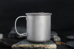 야외 티타늄 컵 머그컵 팟의 식기류 캠핑 컵 피크닉 워터 뚜껑 450/750/900ml의 커피 티 컵 머그컵