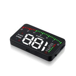 Alquiler de datos del panel Hud A900 Heads Up Display velocímetro, indicador de OBD2 Herramienta de diagnóstico automático del sistema Hud