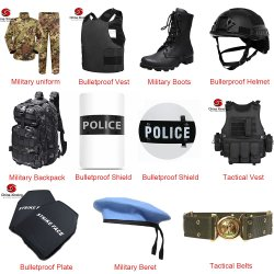 Army Boots/Bullet Proof Vest/Ballistic Helmet/Bulletproof Plate/Tactical Vest/Backpack/Bulletproof Shield/Police Equipment Military Uniform voor verkoop