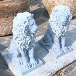 حديقة زخرفة حيوانيّة نقلات حجارة حجر جيريّ أسد