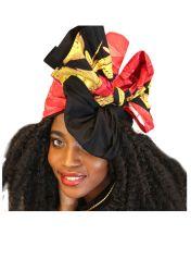 최신 인기 상품 아프리카 형식 면 왁스 직물 인쇄 꽃 Headwrap