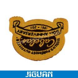 Het douane Gestikte Geweven Etiket van het Etiket van de Stof Kleding