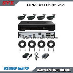 8ch H.265 NVR Kit Ov9712 Sensor 3.6mm 고정 렌즈 아웃도어 카메라