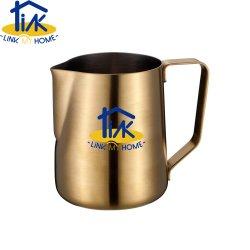 GoldEdelstahl-Milch, die Krug-Krug für Kaffee-Cappuccino schäumt