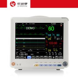 Com marcação CE e ISO13485 fiéis e confiáveis12D Temp ECG Resp SpO2 PANI Multiparamétricas Prportable Patient Monitor dispositivo utilizado para monitorização de cirurgia de Diagnóstico em