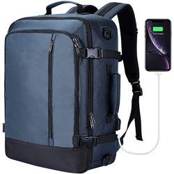 ファッションラップトップケースキャリーオンバックパックフライング認定中古車旅行ビジネスウィークエンド バックパック( USB ポートラップトップバッグ付き