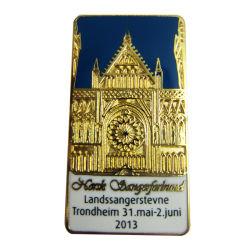Le médaillon métal 2D/3D de l'épinglette de placage en or pour la vente (109)