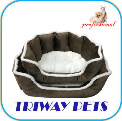 Las tuberías de sarga Snuggle suave cama perro de mascota