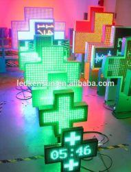 Doppelseite Front Service Apotheke Cross Werbung LED-Anzeige 960 * 960mm