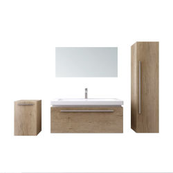 Governo italiano stabilito della stanza da bagno della stanza da bagno di legno di vanità della stanza da bagno con lo specchio
