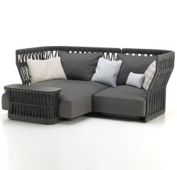 ZNZ Factory Garden Outdoor Furniture schommelstoel Sofa Materiaal Polyester Olifen Rattan Hollow Tape 5mm 6mm touw Webbing
