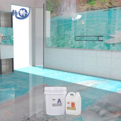 Revêtement de plancher de haute qualité pour les foyers résidentiels Décor adhésif colle les fournisseurs de résine époxy