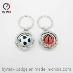 Fußball Keychain Metall + drehender Kugel Keychain Punkt-Fußball Keychain Gummigroßverkauf, der Geschenke bekanntmacht