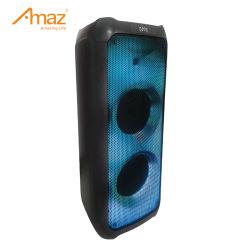 짧은 배송 시간 트롤리 스피커 무선 휴대용 Bluetooth 오디오 스피커 LED 조명 포함