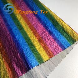 Colorido 20d Full-Dull Taffeta de nylon com carimbo de Fractius para roupa