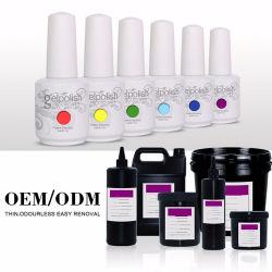 Etiquetas de marca OEM Professional Grosso Soak off 15ml Gelpolish esmalte de unha de gel UV com 500 cores