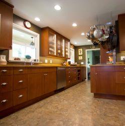 High-end оптовой модульный современный завод MDF HPL меламина серого цвета в форме буквы L деревянные матовый лак кухня Домашняя мебель
