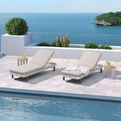Piscina Beach Chaise mobiliário de jardim exterior Sun Lounge de alumínio