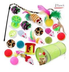 Cat Pass Cat Stick Mouse Supply Cat speelgoedset van 21 stuks