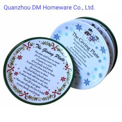 A China de alta qualidade de fornecedor de Graças Imprimir placas redondas de melamina e placa de plástico Prato