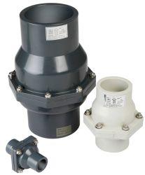 Válvula de retenção de plástico de alta qualidade válvula de retenção de PVC wafers horizontal Fornecedor UPVC fabricante da válvula de retenção vertical de oscilação métrica DIN ANSI Norma JIS