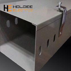 Kabel-Tellersegment-Abflussrinne-Aluminiumaufhängung des Niederspannungs-Netz-400mm hängende elektrische gekerbte mit Kappen-Management-Herstellern