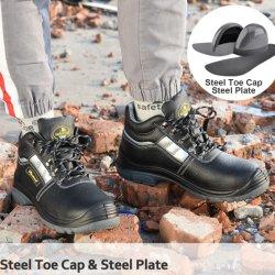 CE 認定中古の作業安全靴、スチールトー付き男性および女性用価格、純正レザーオイル抵抗安全靴メーカー、産業用メンズ作業用