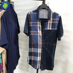 사용한 옷 남자 셔츠는 짧게 초침 옷을 소매를 단다