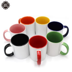 Commerce de gros de la sublimation couleur populaire personnalisé tasse de porcelaine blanche en céramique de voyage des tasses de café