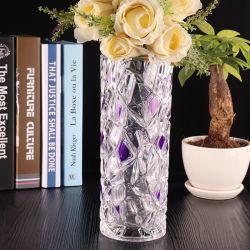 La decoración del hogar jarrón de cristal de alta calidad florero de vidrio artesanal