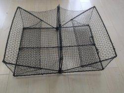 С пластиковым покрытием стальная проволока рамы Monofilament PE Net квадратных складная крабовые ловушки