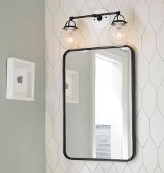 Großhandel Gerahmte Spiegel Silber Kristall Spiegel Rahmen Matt Finish Compact Rahmenspiegelfür Badartikel