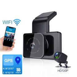 Mobile APP를 가진 3 인치 Screen Dual Lens Car DVR Dash Cam Touch Screen Full HD 1080P