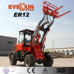 2019 marque Everun Er12 1200kg 1,2 tonne 1,2 T mini-chargeur chargeuse à roues Petit chargement frontal du chargeur
