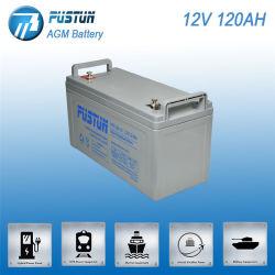 高品質12V120ahのPustun AGMの長い生命深サイクルSLA Mf VRLA電池