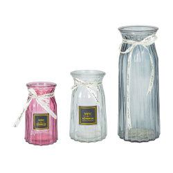 Baratos y de moda hechos a mano Mesa titular de la flor de color de los países nórdicos el Cristal Vase