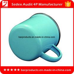 Kundenspezifische Decklack-Tee-Cup-Kaffeetasse des Metall350ml mit Firmenzeichen-Drucken für das Kampieren