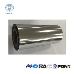 1つの側面のヒートシールプラスチックによって金属で処理されるBOPPのアルミニウム上塗を施してあるフィルム
