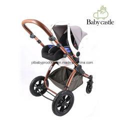 0-12 Monate Baby-geeigneter Alters-und Handfaltbarer Baby-Kind-Begrenzungs-Auto-Sitz des Polyester-Material-eins