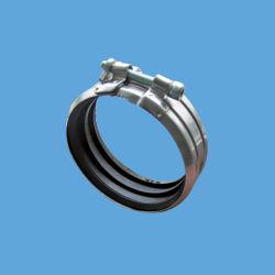 Tutto il tipo morsetti dell'acciaio inossidabile 304 di tubo delle acque luride di B W4 con la guarnizione della gomma di EPDM