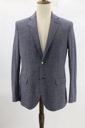 Hombre de ajuste personalizado de sarga con textura de la firma jersey chaqueta Sport untar