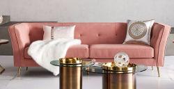 Hot Sale de luxe moderne canapé canapé tissu Zhida populaire