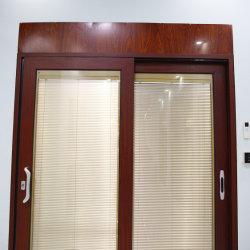 Personalizar el aluminio/aluminio inclinar y girar la puerta de doble acristalamiento