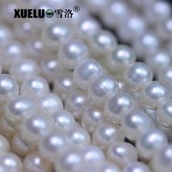 7-8mm AA+ 둥근 실제적인 진주 DIY 보석 만들기를 위한 물자 자연적인 진짜 경작된 민물 물가 진주 (XL180096)