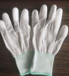 Carcasa de fibra de carbono con revestimiento de PU Dedo Guantes de trabajo