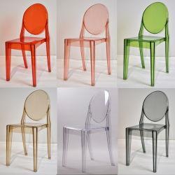 Het Dineren van het spook Meubilair Stapelbaar Acryl Duidelijk Ongewapend Victoria Louis Chairs