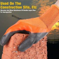 13Gオレンジ快適なグリップのスムーズなニトリル上塗を施してある指3/4の二重浸されたナイロン手袋