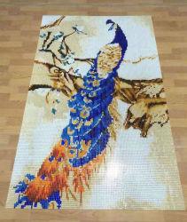 Europäische Kristallglas-Mosaik-Fliese der Art-3D für moderne Wand-Dekoration