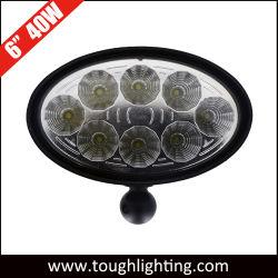 6인치 40W 타원형 LED 트랙터 헤드 램프(측면 마운트 브래킷